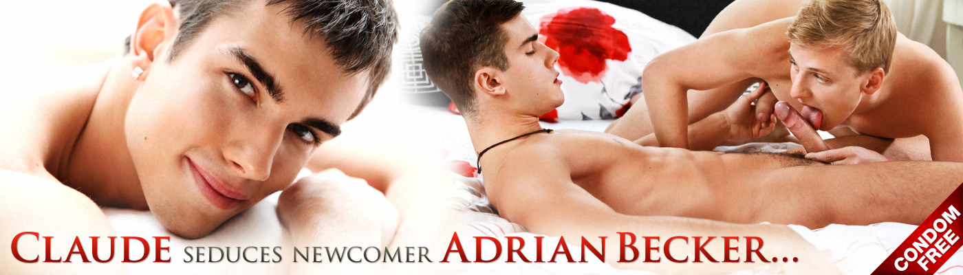 Claude seduces newcomer Adrian Becker...