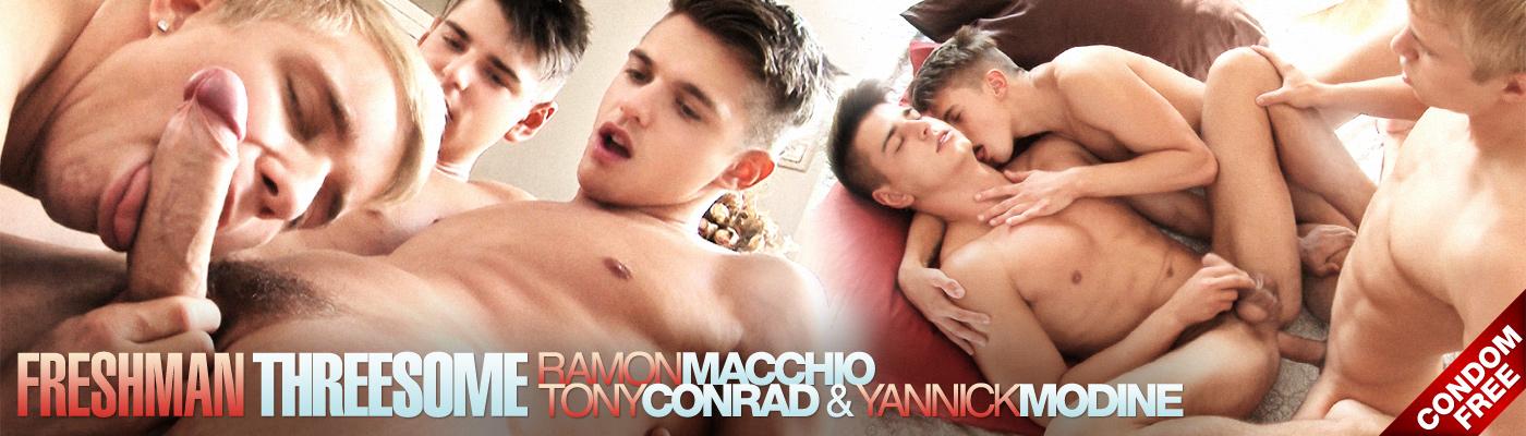 Freshman threesome: Ramon Macchio, Tony Conrad and Yannick Modine
