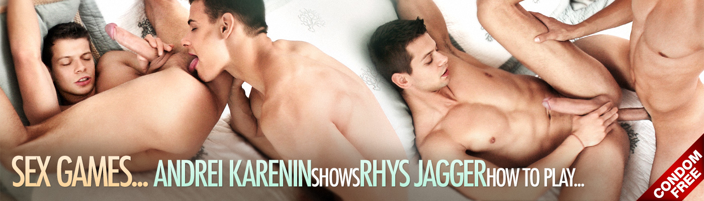 SEX GAMES… Andrei Karenin shows Rhys Jagger how to play...